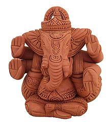 Lord Ganesha - Terracotta Statue