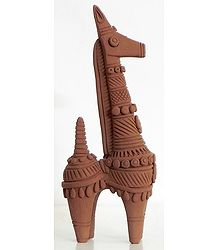 Terracotta Horse from Bankura in West Bengal