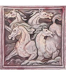 Wall Hanging Terracotta Horses