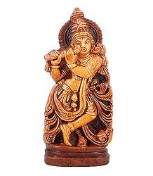 Murlidhara Krishna - Terracotta Statue