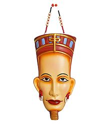 Terracotta Egyptian Mask for Wall Decoration
