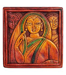 Three Women - Terracotta Wall Hanging