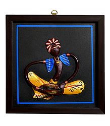 Man Playing Dholak - Wall Hanging