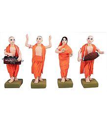 Four Vaishnavas - Devotees of Lord krishna