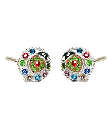 Multicolor Stone Studded Toe Ring