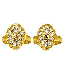 Buy White Stone Studded Toe Ring