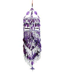 Purple and White Beaded Chandeliar Door Hanging - (Decorative Door Hanging)