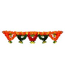 Silk Cloth Flower Door Toran - (Decorative Door Hanging)
