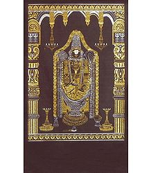 Balaji - (Silver and Golden Glitter Painting)