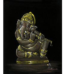 Ganesha Playing Flute