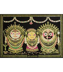 Glitter Painting of Jagannath, Balaram, Subhadra