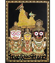 Buy Glitter Painting of Jagannath, Balaram, Subhadra