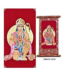Hanuman - Rubberized Paint on Velvet
