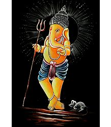 Ganesh with Trident
