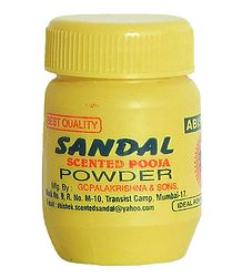 Buy Sandal Scented Pooja Powder