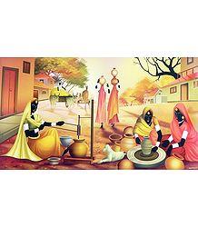 Indian Rural scene