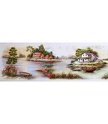An Indian Village Scene