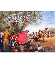 Rajasthani Village Well