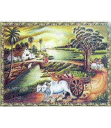 Bengal Village Scene - Poster