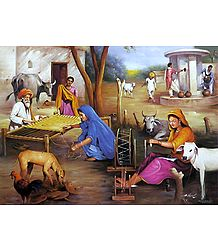 Village Life of India - Poster