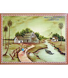 Village Scene Poster - Shop Online