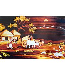 Shop Online Village Scene Poster