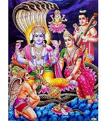 Lakshmi Narayan - Unframed Glitter Poster