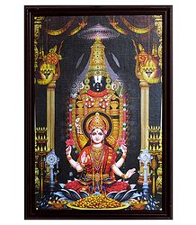 Framed Picture of Balaji with Lakshmi