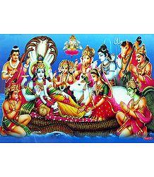 Vishnu in Anantashayan Poster