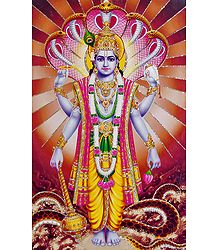 Shop Online Glitter Poster of Lord Vishnu