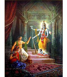 Vishnu takes Birth as Krishna - Poster