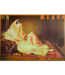 Mughal Courtesan with Hookah