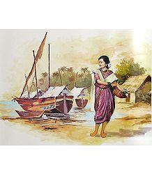 Fisher woman from Maharashtra