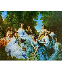 Victorian Ladies in an Outing - Women Poster