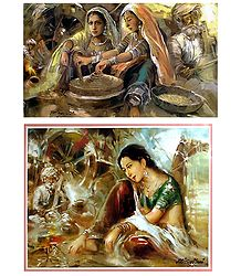 Rajasthani Beauties - Set of 2 Posters
