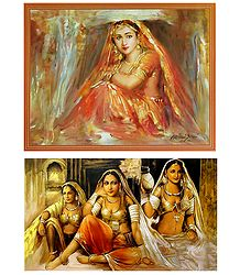 Rajasthani Women and Bride - Set of 2 Posters