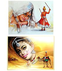 Rajasthani People - Set of 2 Posters