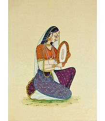 Ragini Playing Dafli