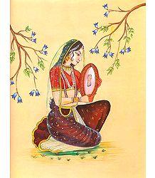 Lady Playing Dafli