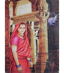 Lonely Rajput Lady in the Palace - Poster