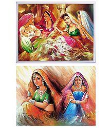 Rajasthani Beauties - Set of 3 Posters