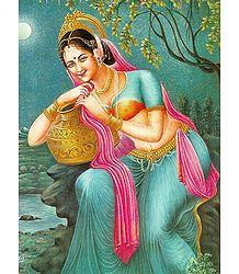 Indian Beauty with Kalash