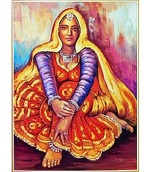 Rajasthani lady - Poster