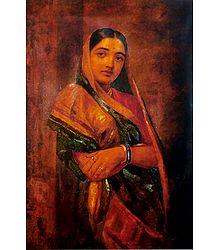 Raja Ravi Varma Woman Poster