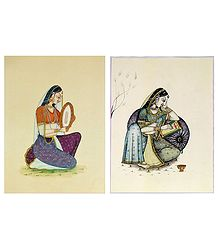 Ragini and Rajput Woman - Set of 2 Posters
