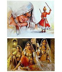Rajasthani Women - Set of 2 Posters
