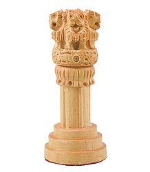 Wooden Ashoka Stambha (Pillar)