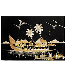 Buy Bamboo Strands Picture on Cardboard