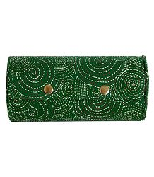 Embroidered Green Cloth with Cardboard Bangle Box