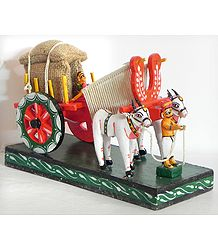 Bullock Cart Carrying Harvest - Kondapalli Doll